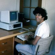 Andy Linda with his first computer
