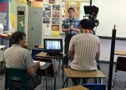 Directing a video in a classroom