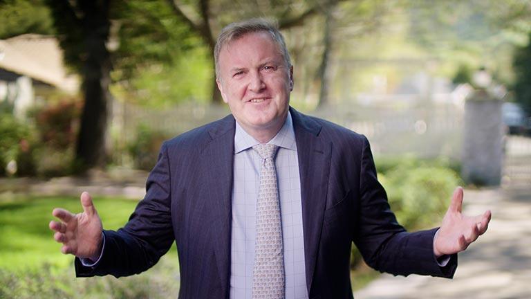 Executive as seen on camera