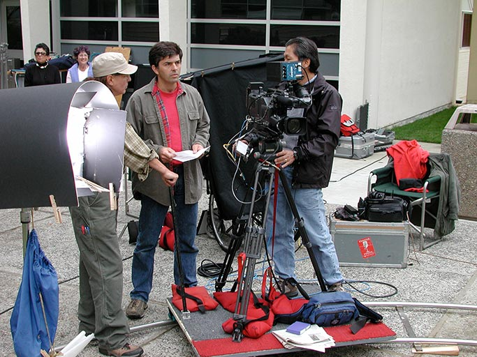 Andy Linda directing a promotional video