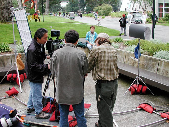 Behind-the-scenes on a promotional video