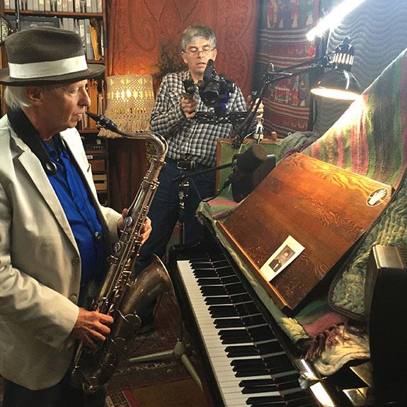 Gordon Fels playing saxophone
