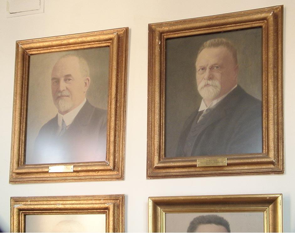 Portraits of professors