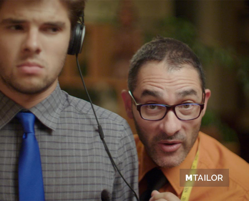 Still frame from our MTailor commercial.