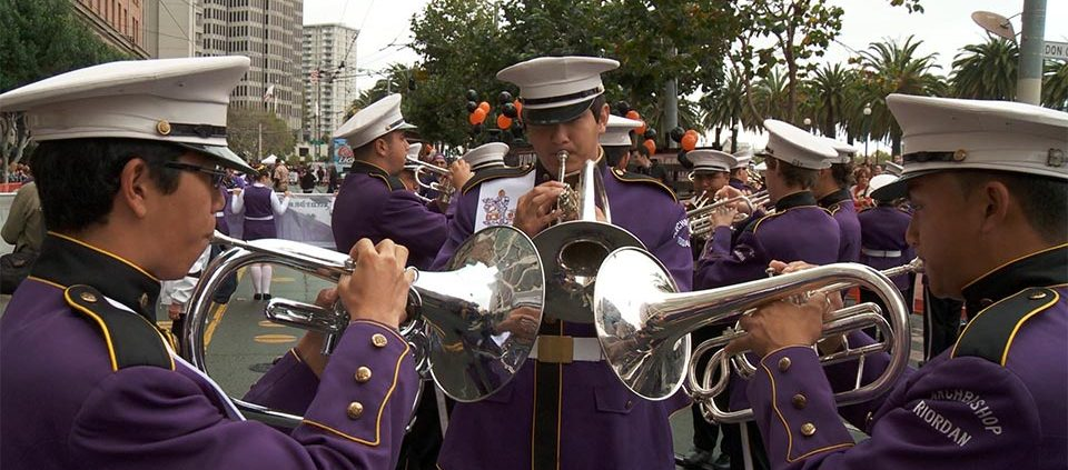 Frame grab from a video about a marching band