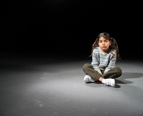 Young actress in a video production