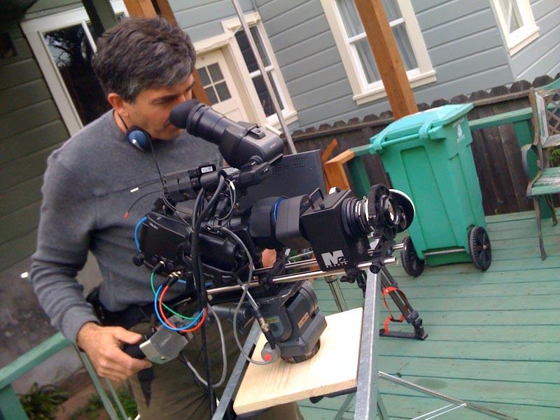 Andy Linda behind camera