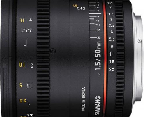 Samyang Cine Lens Side View