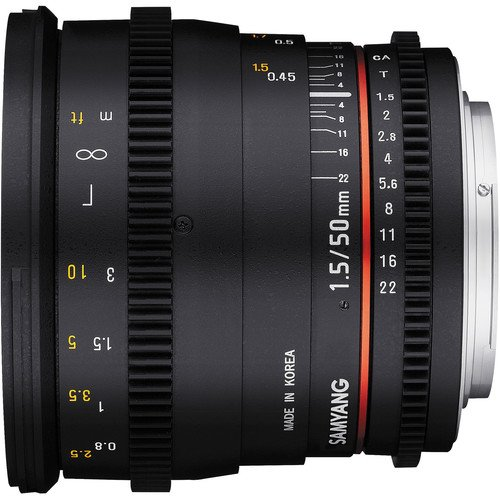Samyang Cine Lens Side View