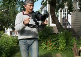 Using a video camera gyro stabilizer