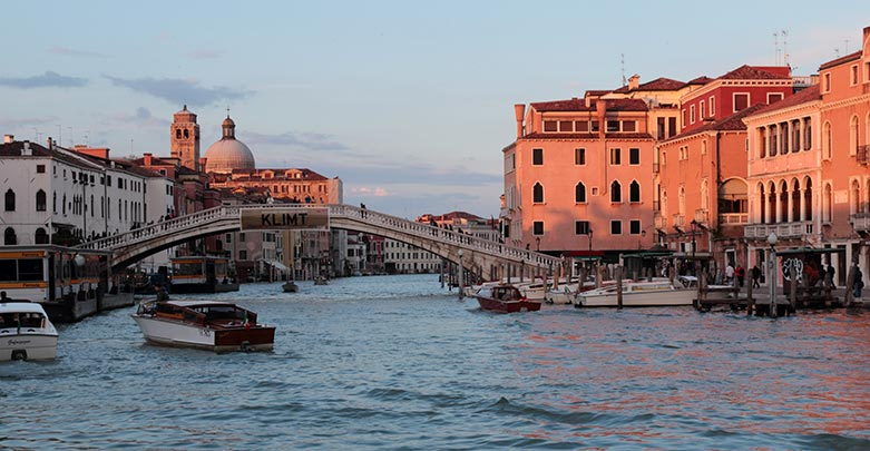 Venice, Italy Grand Canal in the evening