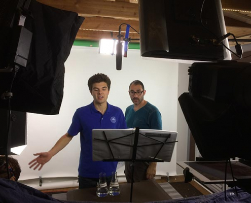 Voiceover recording session at Enlightened Pictures